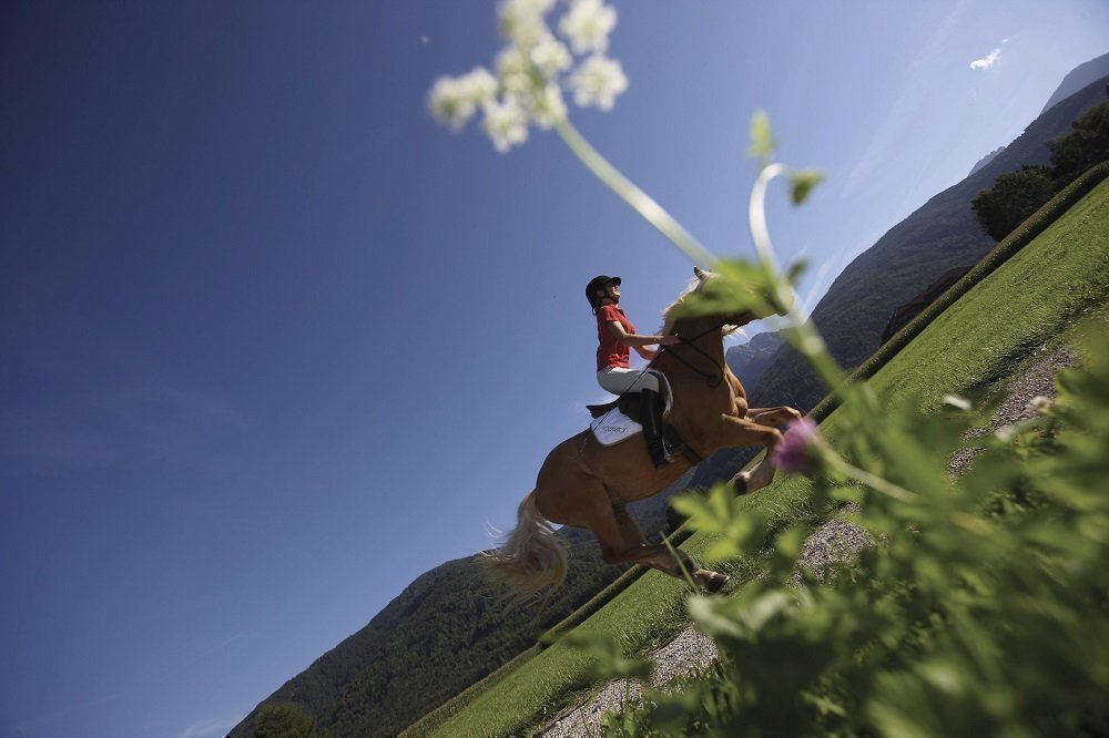 Relax while horseback riding or playing golf